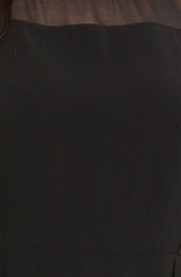 Alternate Image 3  - DKNYC Georgette Trim Shift Dress (Plus)