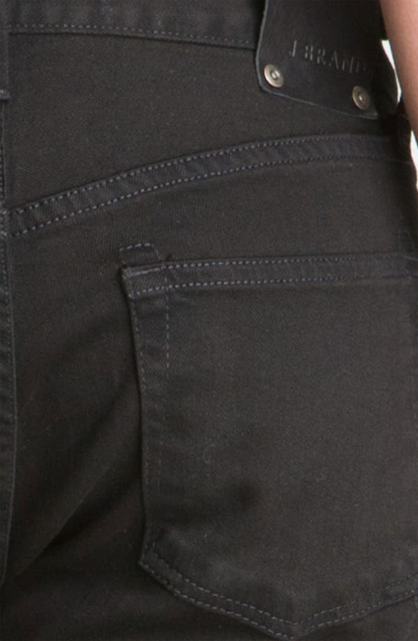 Alternate Image 4  - J Brand 'Kane' Slim Straight Leg Jeans (Phantom Black)