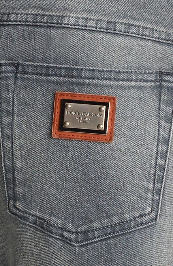 Alternate Image 4  - Dolce&Gabbana Skinny Ankle Zip Jeans
