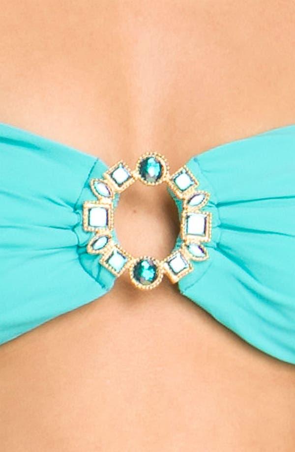 Alternate Image 3  - Beach Bunny 'Show & Tell' Embellished Bandeau Bikini Top