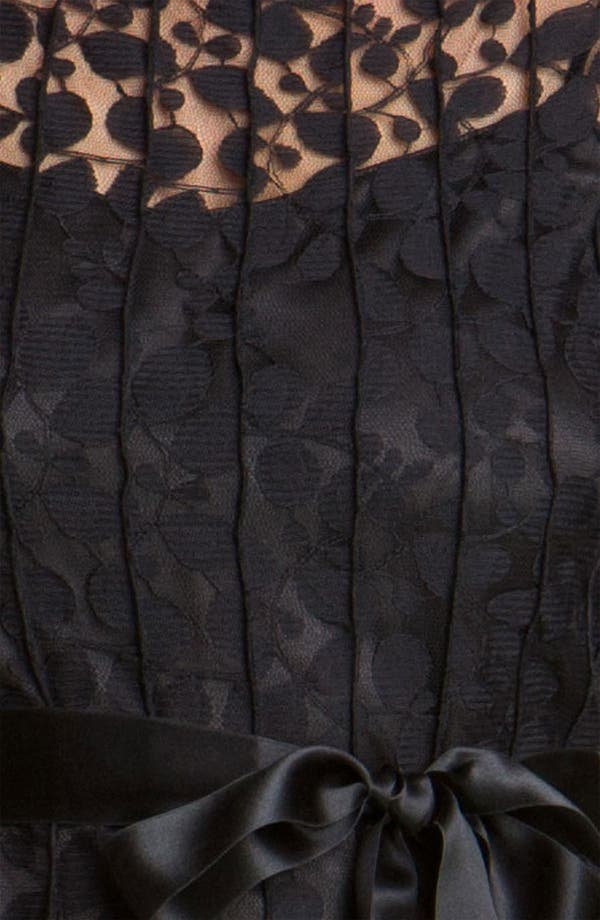 Alternate Image 3  - Teri Jon Pintuck Mesh Overlay Dress