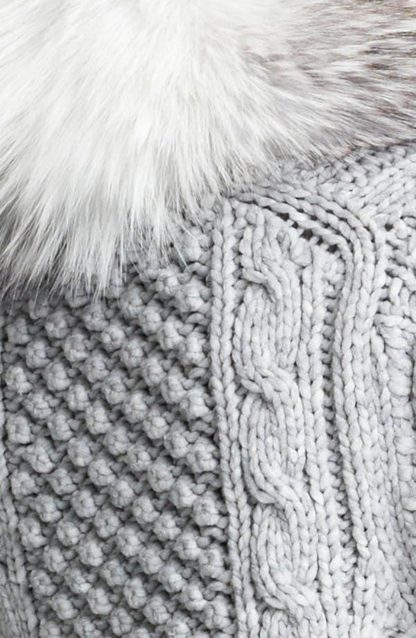 Alternate Image 3  - Michael Kors Genuine Fox Fur Collar Cardigan