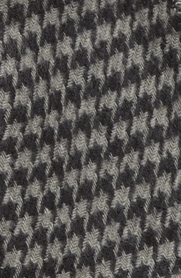 Mini Houndstooth Knit Scarf,                             Alternate thumbnail 2, color,                             Black/ Grey