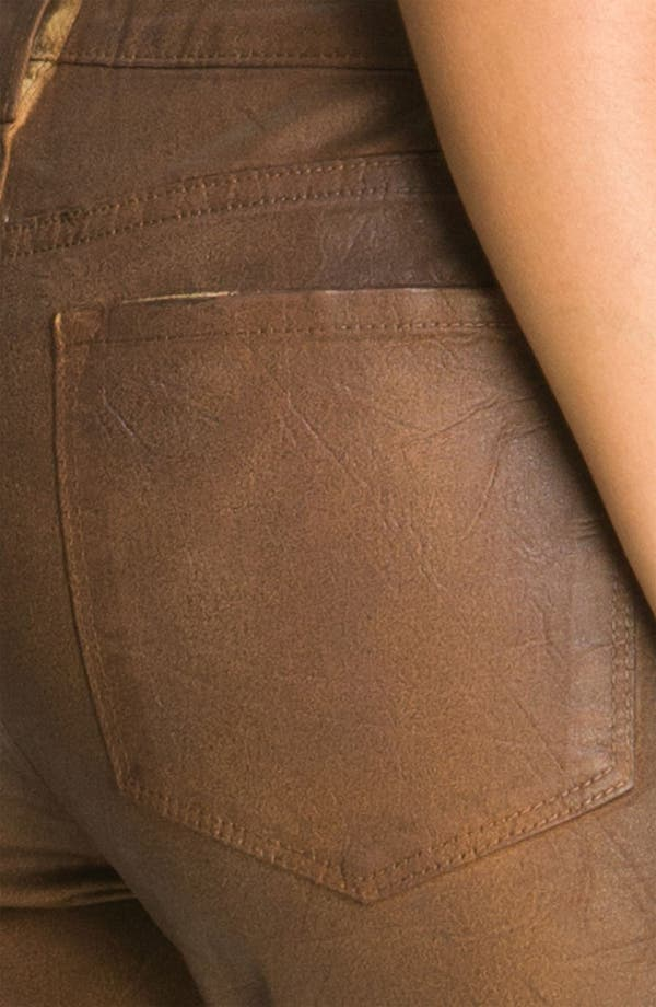 Alternate Image 3  - NYDJ 'Sheri' Coated Skinny Jeans