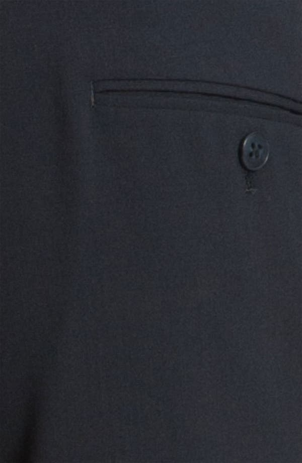 Alternate Image 3  - John Varvatos Star USA Slim Fit Flat Front Wool Trousers