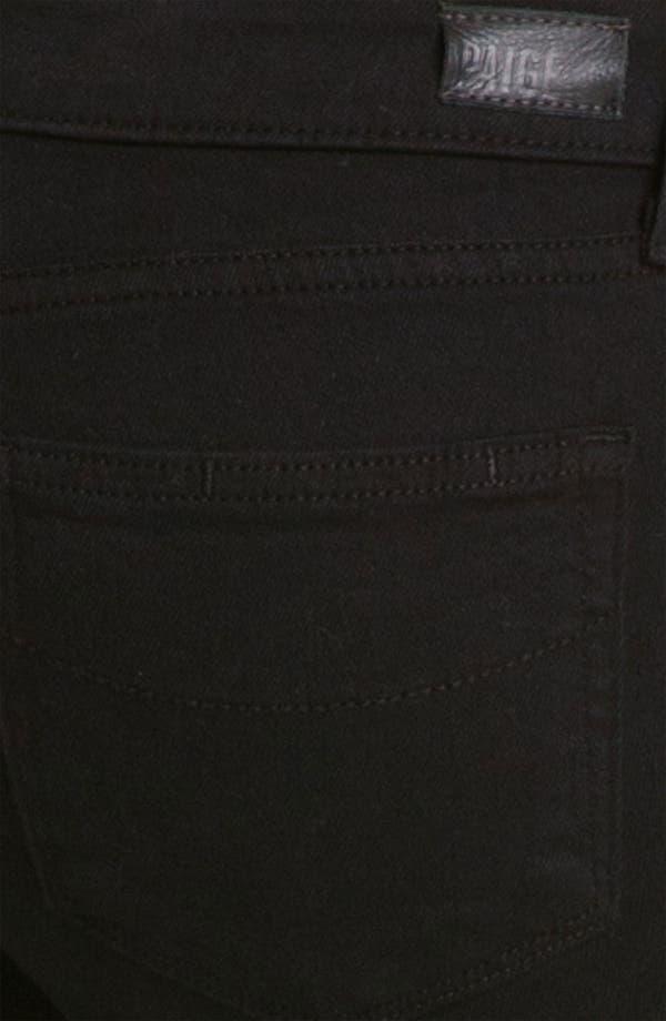 Alternate Image 3  - Paige Denim 'Skyline' Ankle Peg Skinny Stretch Jeans (Black Ink)