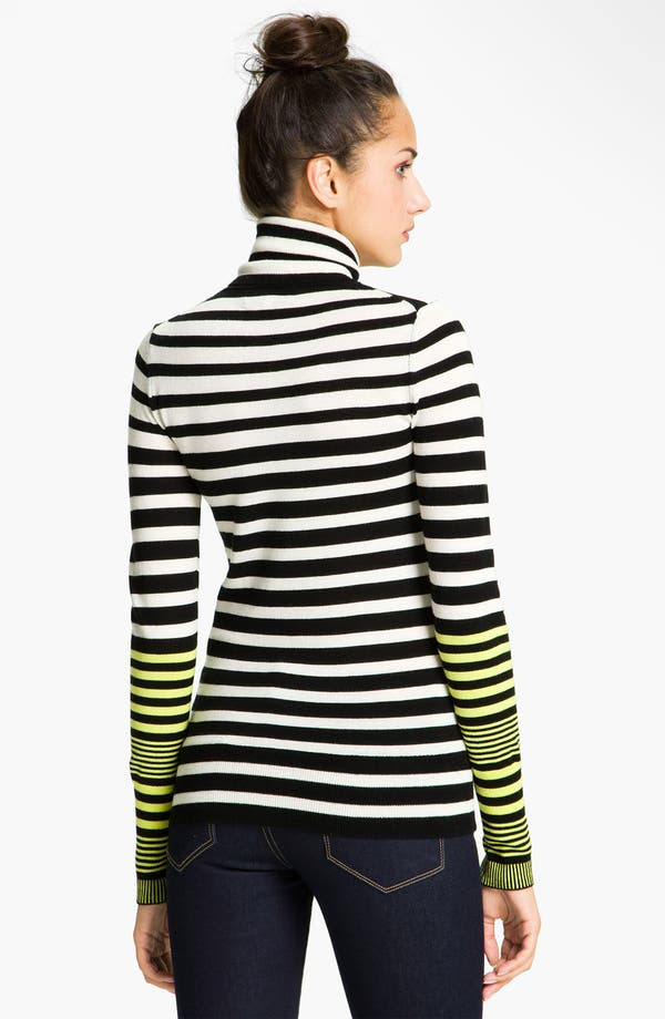 Alternate Image 2  - Juicy Couture Stripe Turtleneck