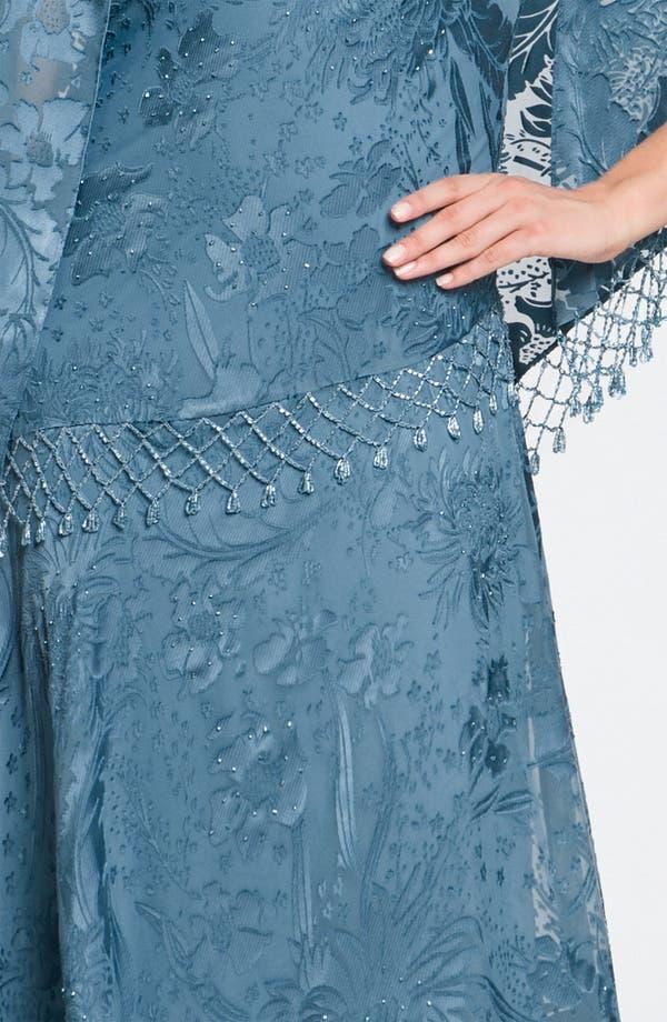 Alternate Image 3  - Alex Evenings Sequin Lace Overlay Dress & Shawl (Petite)