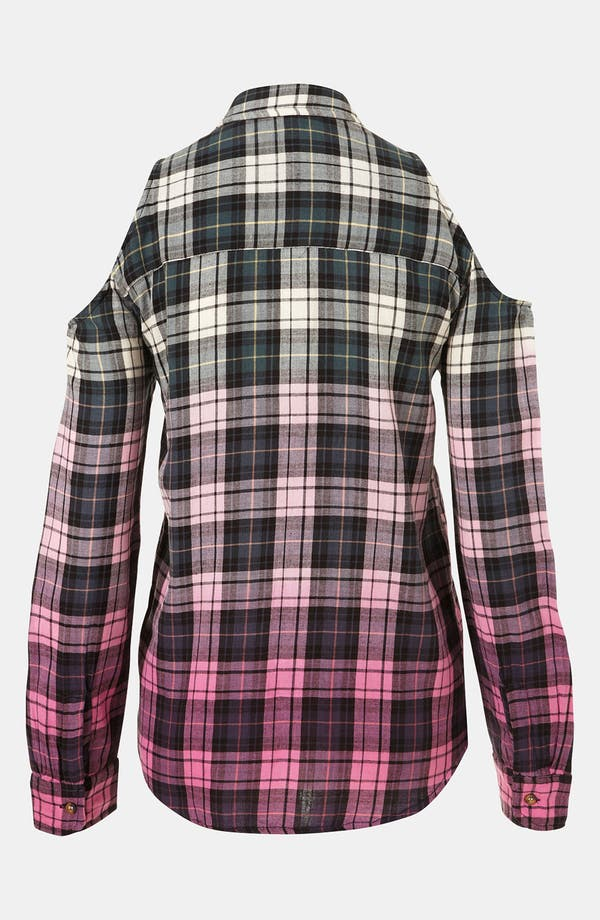 Alternate Image 2  - Topshop Dip Dye Cutout Plaid Shirt