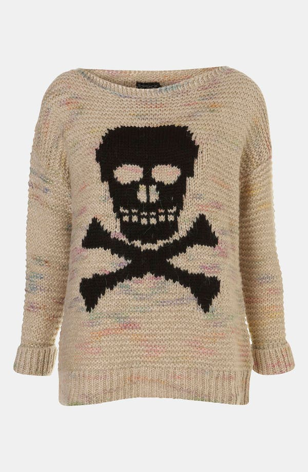 Alternate Image 1 Selected - Topshop 'Skull' Sweater