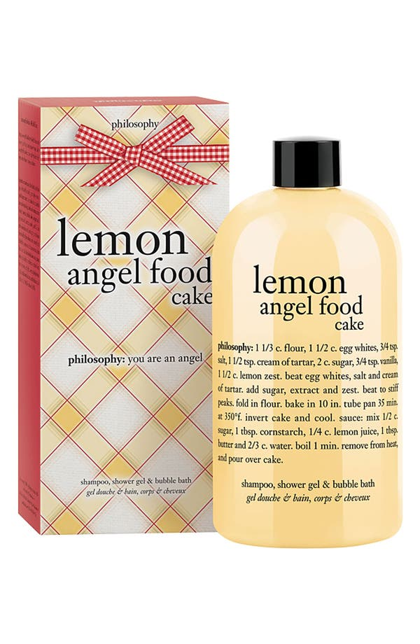 Main Image - philosophy 'lemon angel food cake' shampoo, shower gel & bubble bath (Nordstrom Exclusive)