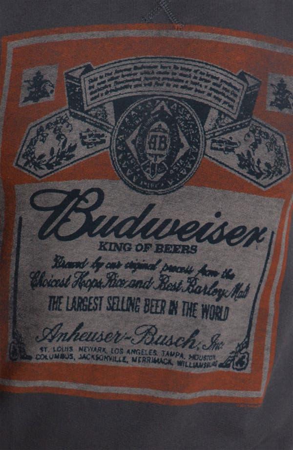 Alternate Image 3  - Junk Food 'Budweiser' Crewneck Sweatshirt