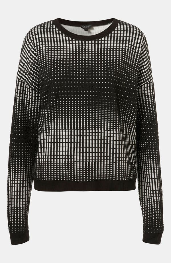 Alternate Image 1 Selected - Topshop 'Grid' Sweatshirt