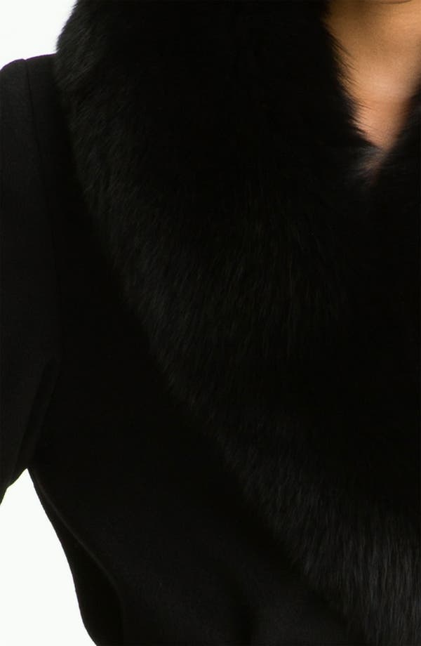 Alternate Image 3  - Dale Dressin Long Wrap Coat with Fox Fur Collar