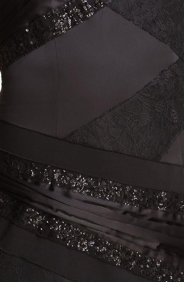 Alternate Image 3  - Jessica Simpson Back Cutout Mixed Media Sheath Dress