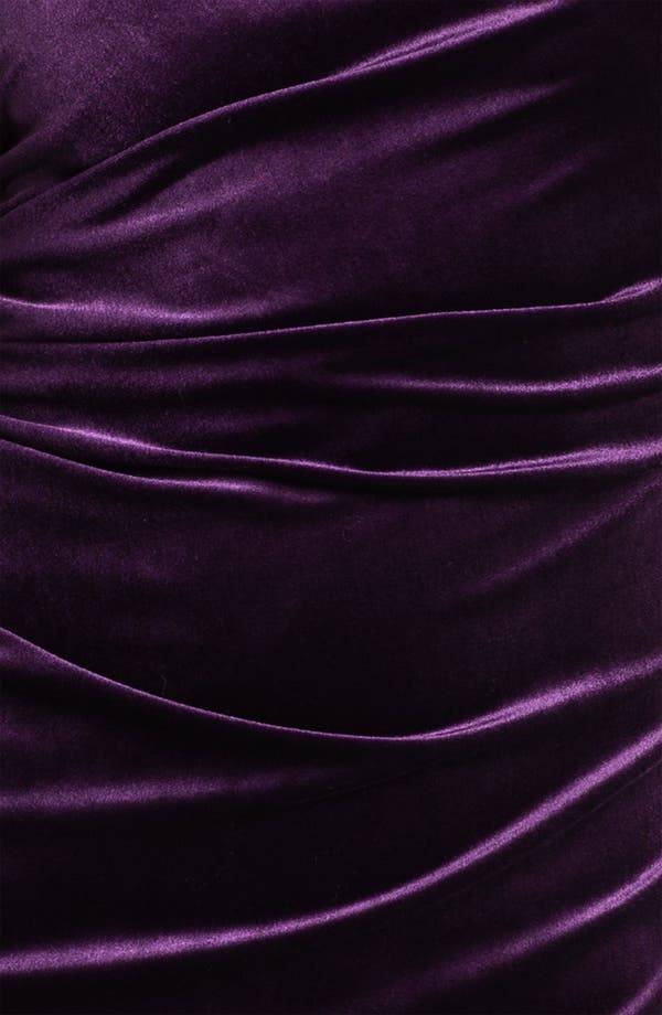Alternate Image 3  - Calvin Klein One Shoulder Draped Sleeve Velvet Dress