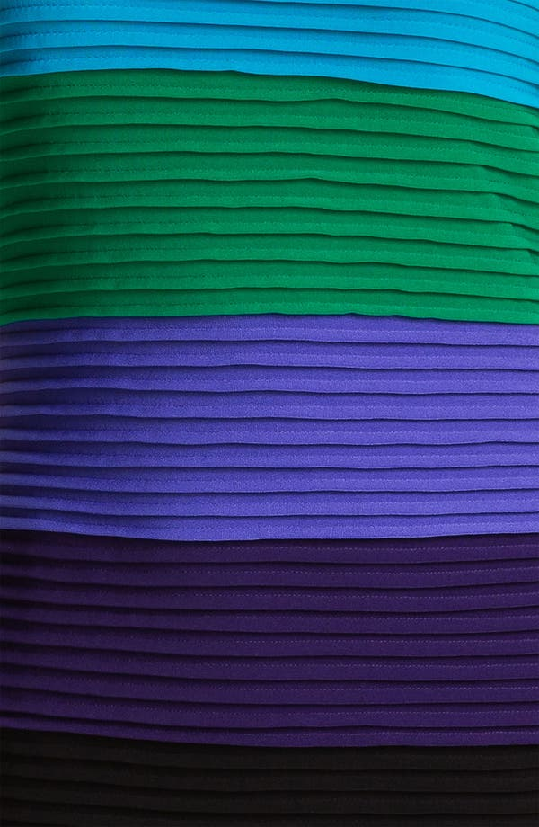 Alternate Image 3  - Calvin Klein Pleated Colorblock Jersey Dress