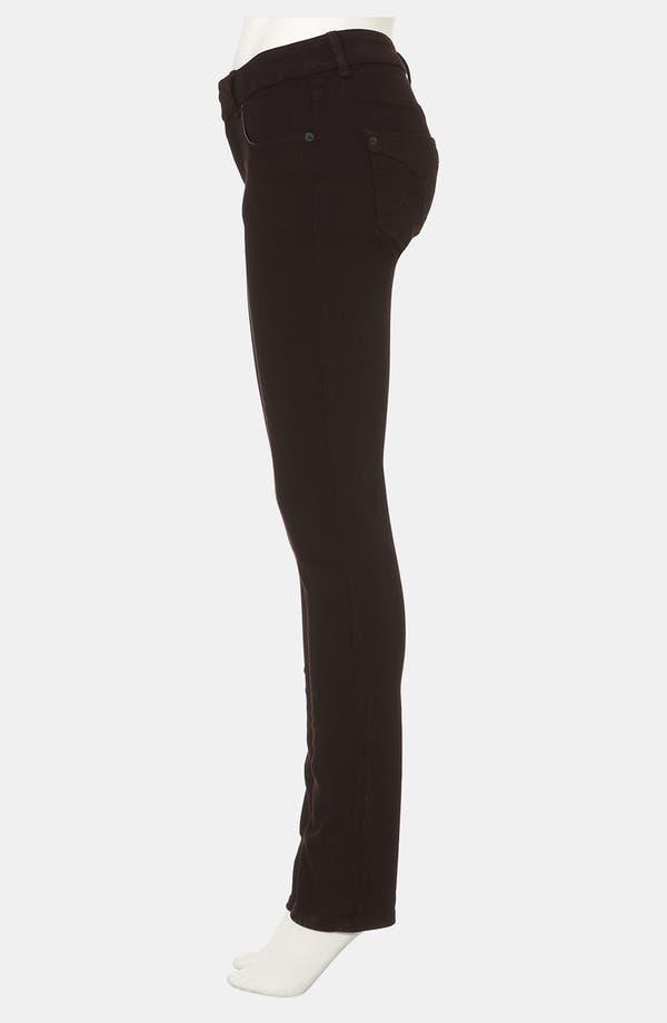 Alternate Image 4  - Topshop Moto 'Baxter' Skinny Jeans (Burgundy)