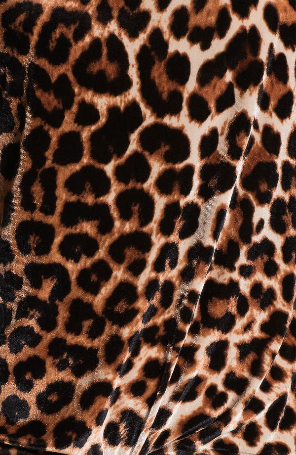 Alternate Image 3  - Lucky Brand Leopard Print Velveteen Top (Online Exclusive)