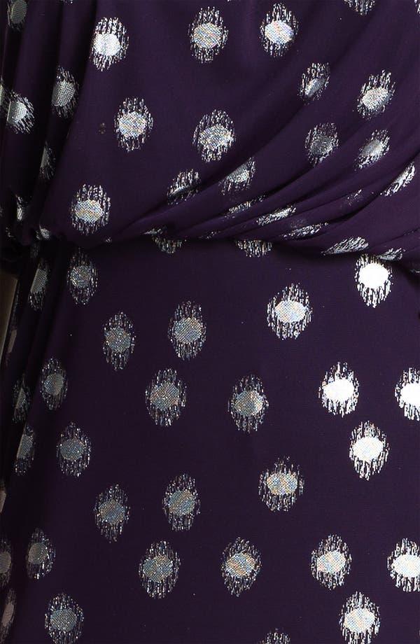 Alternate Image 3  - Adrianna Papell Foil Dot One Shoulder Chiffon Dress (Plus)