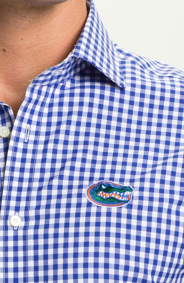 Alternate Image 3  - Thomas Dean 'University of Florida' Gingham Sport Shirt (Online Only)