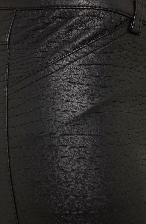 Alternate Image 3  - Topshop 'Howard' Croc Embossed Faux Leather Pants