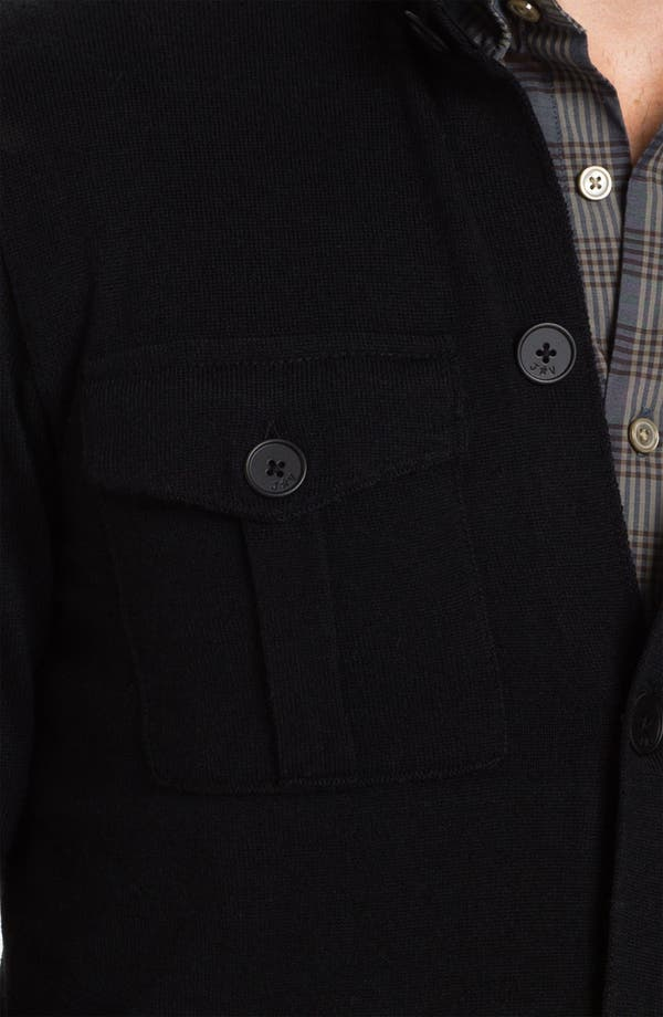 Alternate Image 3  - John Varvatos Star USA Merino Wool Blend Button Cardigan