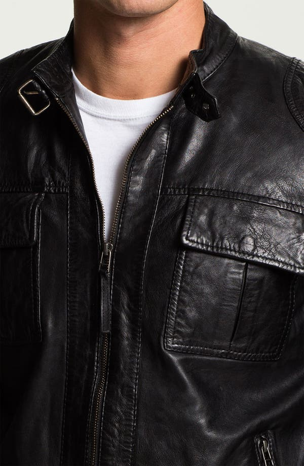 Alternate Image 3  - 7 Diamond 'Konick' Leather Moto Jacket