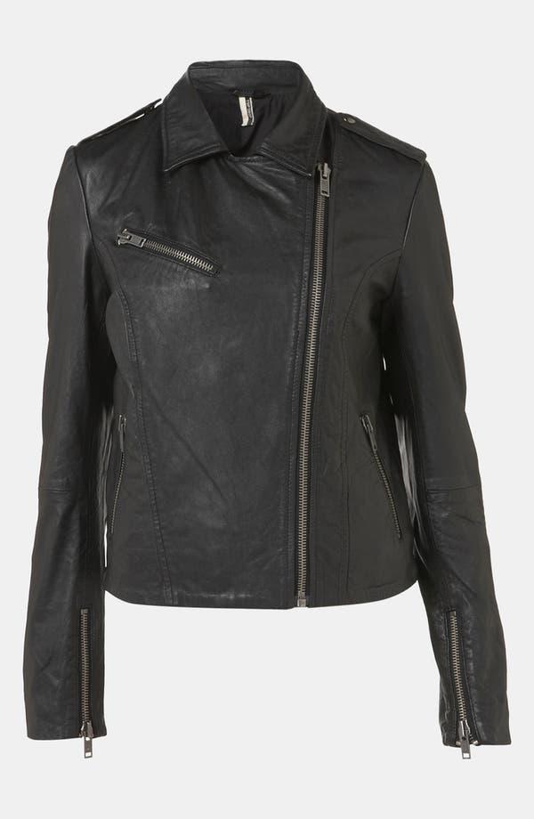 Alternate Image 4  - Topshop 'Winston' Leather Biker Jacket