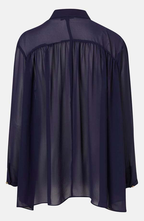 Alternate Image 2  - Topshop Sheer Babydoll Shirt