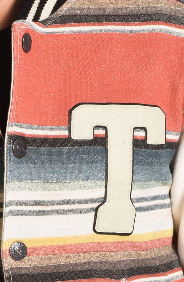 Alternate Image 3  - True Religion Brand Jeans Stripe Print Varsity Jacket