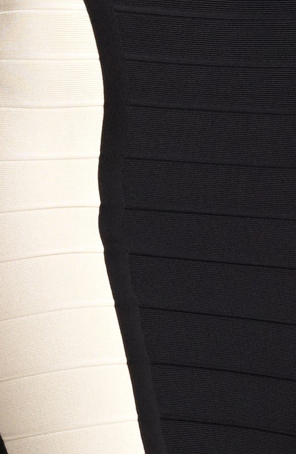 Alternate Image 3  - Herve Leger Colorblock Cutout Bandage Dress