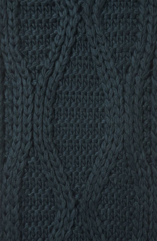 Alternate Image 2  - Topshop Cable Knit Pompom Scarf