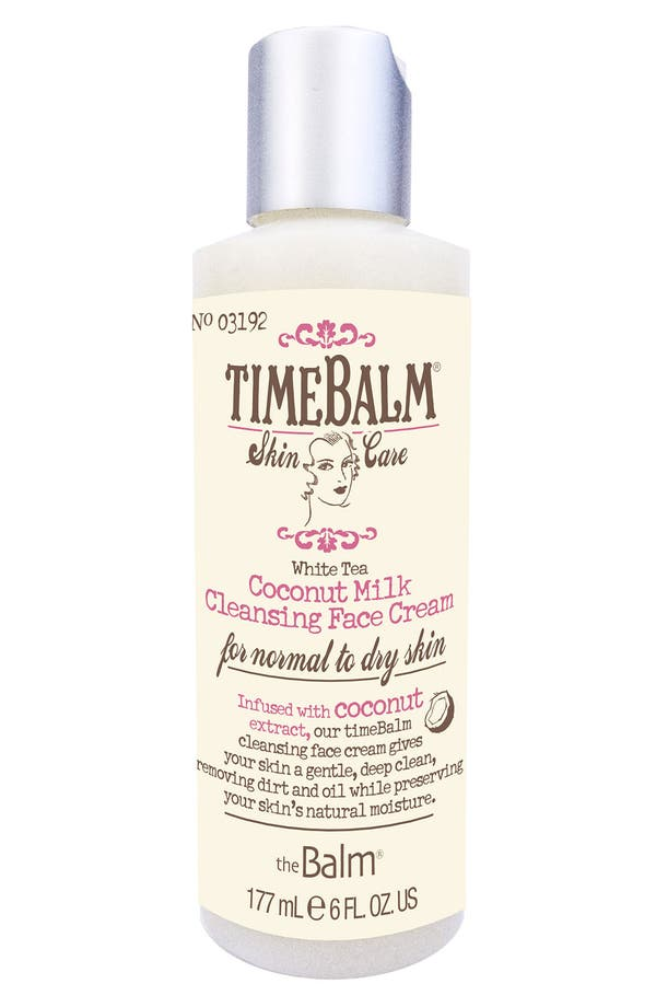 Main Image - theBalm 'TimeBalm®' Coconut Milk Cleansing Face Cream