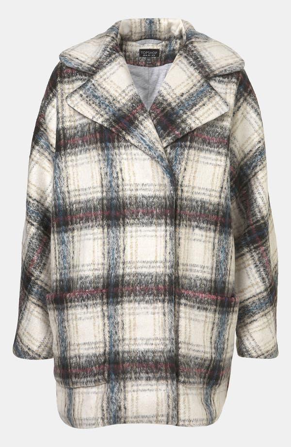 Main Image - Topshop 'Pablo' Plaid Coat