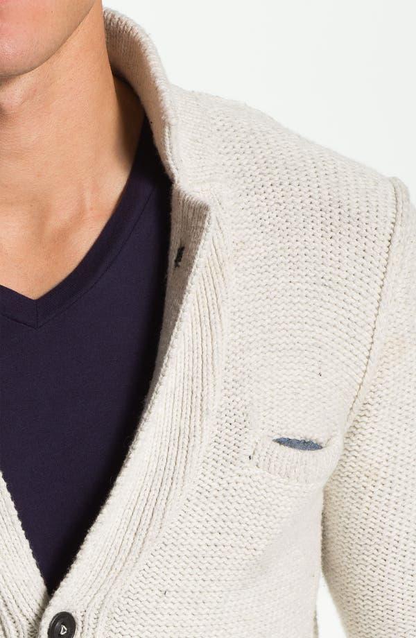 Alternate Image 3  - J.C. Rags Reverse Knit Three Button Sweater Blazer