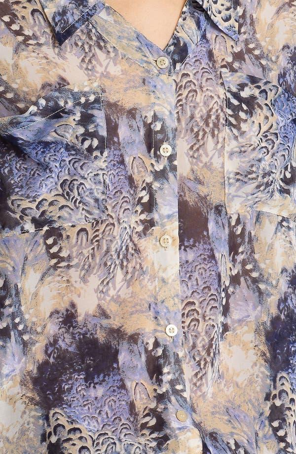 Alternate Image 3  - Free People Feather Print Chiffon Shirt
