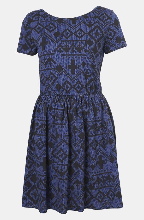 Main Image - Topshop Fair Isle Jersey Dress