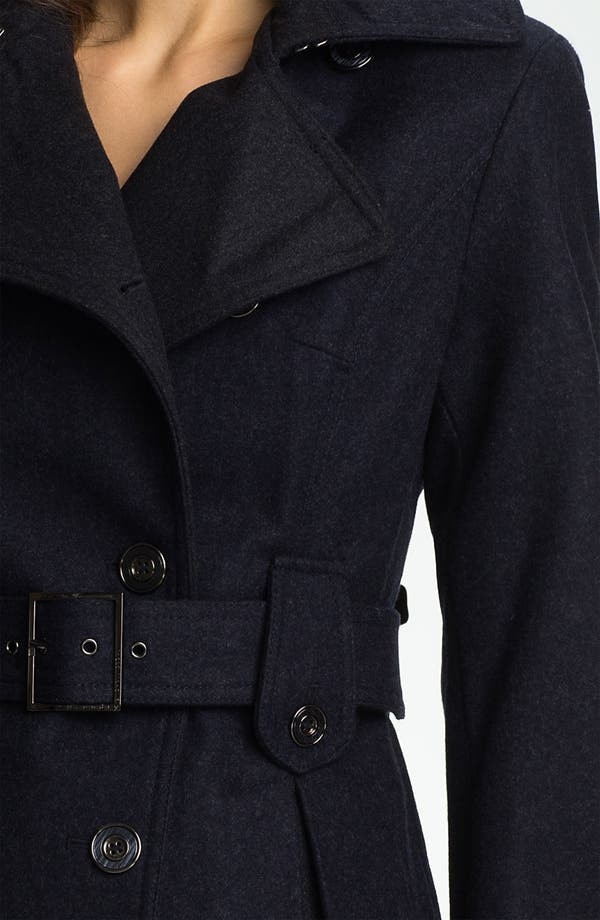 Alternate Image 3  - Laundry by Shelli Segal Double Breasted Military Coat (Petite)