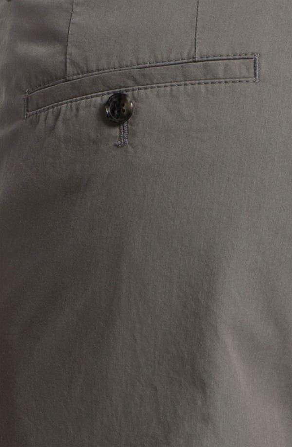 Alternate Image 3  - BOSS Black 'Sharp' Flat Front Cotton Trousers