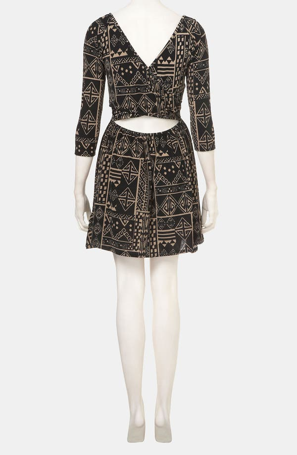 Alternate Image 2  - Topshop Aztec Print Surplice Back Cutout Dress