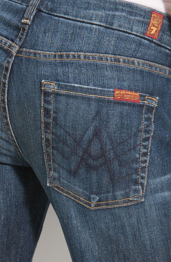 Alternate Image 3  - 7 For All Mankind® Stretch Denim Bootcut Jeans (Nouveau New York) (Petite)