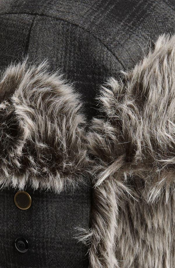 Alternate Image 3  - Free Authority Plaid Faux Fur Trapper Hat