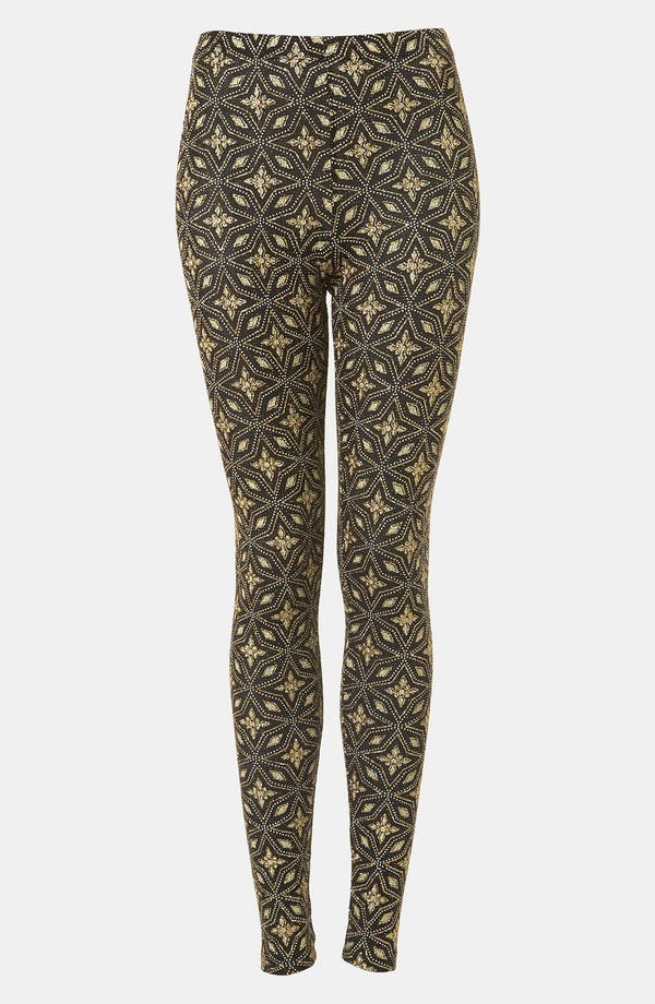 Alternate Image 1 Selected - Topshop Glitter Star Print Leggings