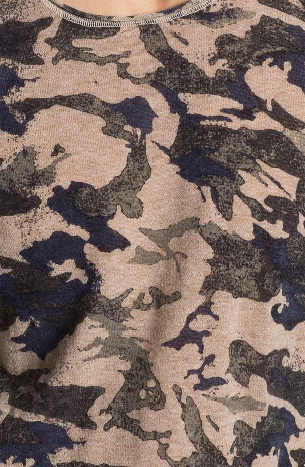 Alternate Image 3  - Zadig & Voltaire Camo Print Long Sleeve Cashmere T-Shirt