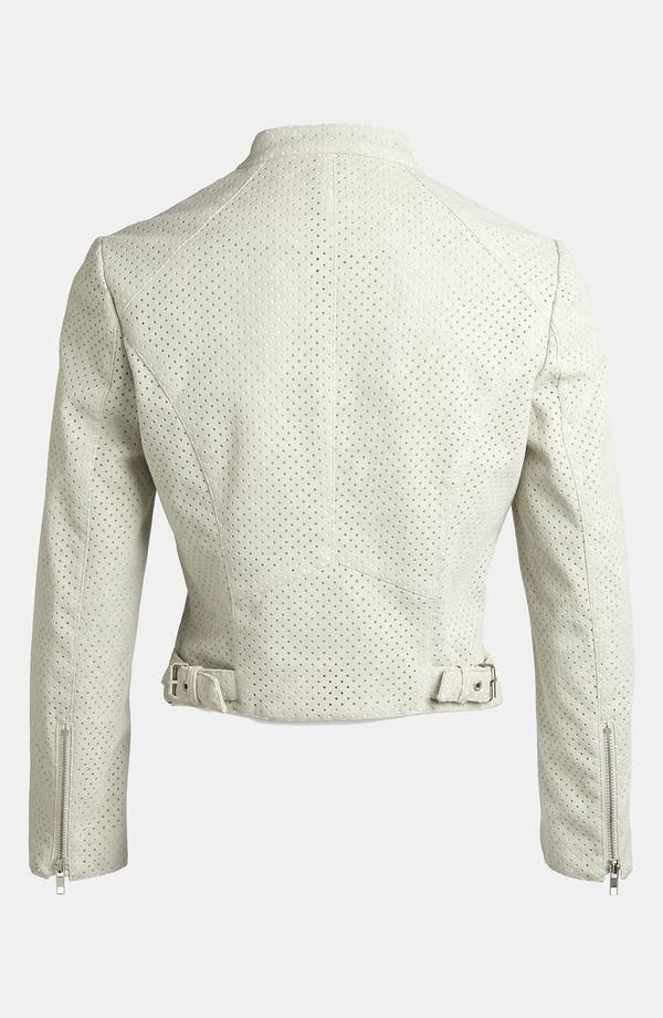 Alternate Image 2  - ASTR Perforated Faux Suede Moto Jacket