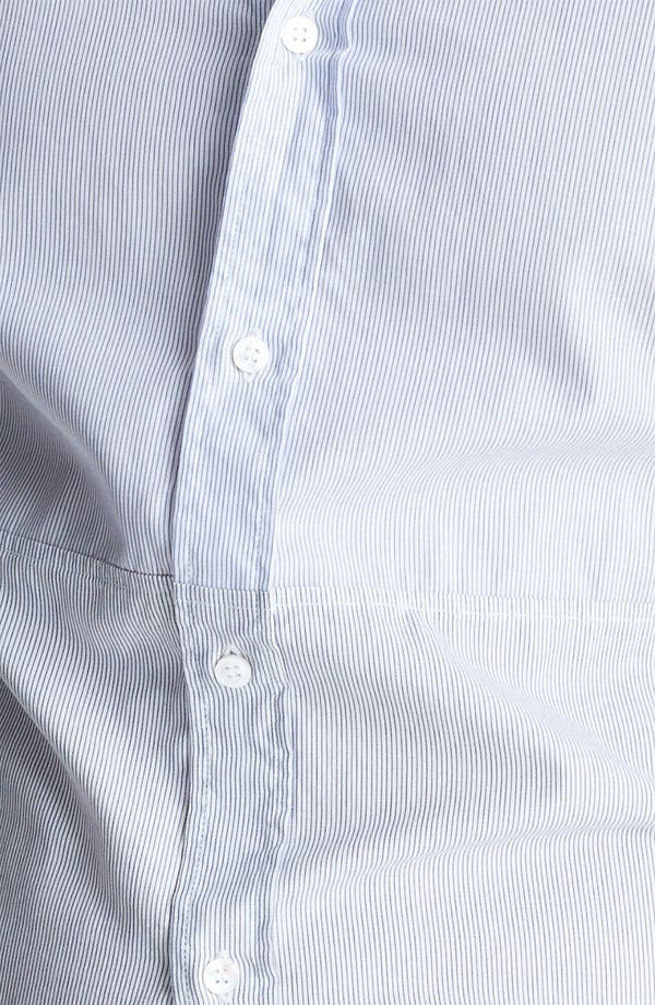 Alternate Image 3  - Michael Bastian Pieced Stripe Woven Shirt