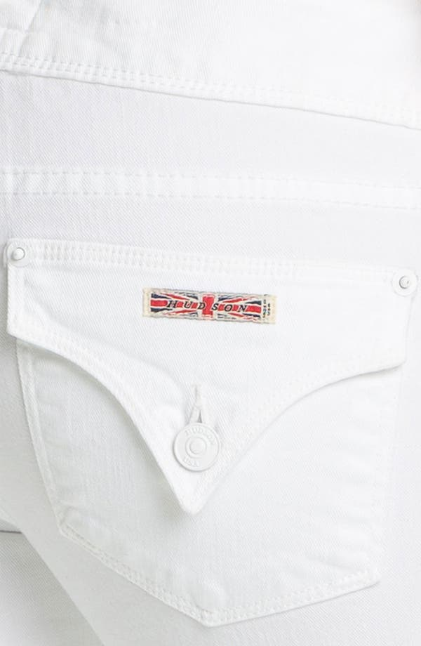 Alternate Image 3  - Hudson Jeans 'Beth' Baby Bootcut Jeans (White)