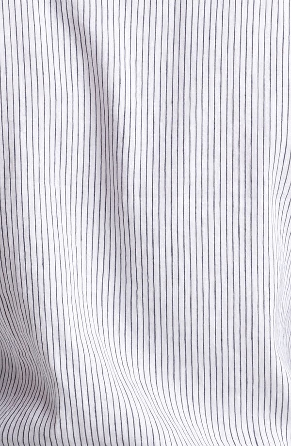 Alternate Image 3  - Armani Collezioni Stripe Woven Shirt with Stitched Collar