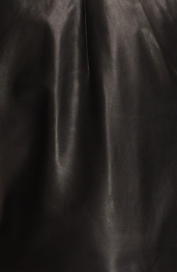 Alternate Image 3  - Milly 'Kelsey' Leather Shorts